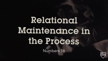 Relational Maintenance in the Process