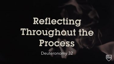 Reflecting Throughout the Process