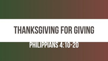 Thanksgiving for giving